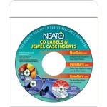 Closeout item package of 50 genuine fellowes neato cwp for Fellowes cd label template