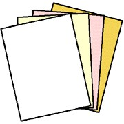 NCR® 5915 Superior Digital Carbonless Paper, 125 Sets of 4 Part, White, Canary, Pink, Gold, Reverse Collated, Letter Size 8.5 x 11 inches, 500 Sheets