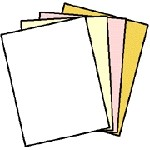 Appleton NCR 5915 Superior Digital Carbonless Paper, 125 Sets of 4 Part, White, Canary, Pink, Gold, Reverse Collated, Letter Size 8.5
