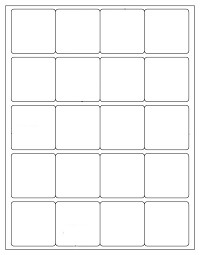 "New! 400 SQUARE White 2"" X 2""  Laser and Inkjet Printable Labels, 20 Stickers per Sheet - 100 Sheets (COPY)"