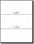 Printworks Professional 04122 Dual Perfed Paper, 3-2/3 and 7-1/3 Perforations, 24#  Heavy Weight White Bond, Paris Business Forms
