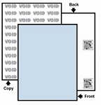 500 Sheets Paris DocuGard® 04541 VOID Security Paper - Blue Tint, DupliGuard with 6 Security Features