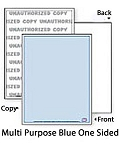 500 Sheets DocuGard® for All Purposes UNAUTHORIZED COPY  - 04540 Multi-Purpose Security Paper, Security Features on Blue side