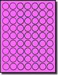 6,300 Fluorescent Pink 1 inch Diameter Small Circle LASER ONLY Labels, 63 Stickers pre Sheet,100 Sheets Round Stickers