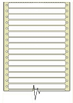 10,000 Compulabel® 110305 White Pin Feed, Continuous Form Label 5 x 7/16 inches