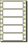 5,000 Compulabel® 110507 One Across White Stock Continuous Form Impact or Dot Matrix Labels, 2-1/2 x 15/16