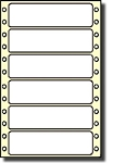 5,000 Compulabel® 110654 White Pin Feed Dot Matrix Continuous Form Label 3-1/2 x 15/16 One Across Avery® 4013, Uline S-1917 Size