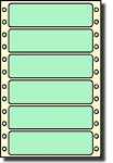 Compulabel® 112500 Pastel Green Continuous Label, 3-1/2 x 15/16, 5,000 Labels per Box