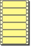 Compulabel® 112555 Pastel Yellow 3-1/2 x 15/16 inches Continuous Labels, 5,000 Labels per Box