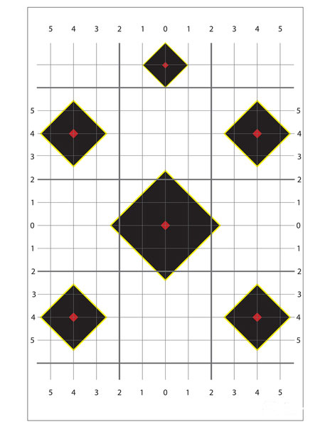 Targets For Rifle Or Pistol 20 Sheets 20 Targets
