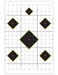 Targets for Rifle or Pistol. <br>20 Sheets, 20 Targets