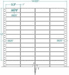 Compulabel® 140354 Continuous Pinfeed Labels, 3.3 x 15/16 inches, Four Across