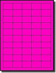 1,000 Fluorescent Hot Pink Small Rectangular Square Corner Laser ONLY Labels, 1.5 x 1 inch, 50 per Sheet, Not Made by Avery® Labels