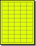 5,000 Bright Neon Fluorescent Yellow Square Corner Labels, 1-1/2 x 1 inch, 100 Sheets with 50 Labels per Sheet, Laser Printers Only, Not Made by Avery® Labels