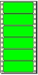Compulabel® 161504 Fluorescent Neon Green Continuous Labels, P1-40, 4 x 1-7/16, 5,000 Labels per Box