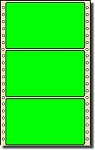 Compulabel® 162000 Fluorescent Green Continuous, Dot Matrix Labels 5 x 2-15/16 (5 x 3) 2,500 Per Box