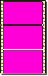 Compulabel® 162055 Fluorescent Neon Pink Continuous Pin Fed Labels, One Across, 5 x 2-15/16 (5 x 3), 2,500 per Box
