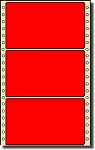 Compulabel® 162101 Fluorescent Red Continuous Pinfeed Labels, 1 across, 5 x 2-15/16 (5 x 3) 2,500 per Box