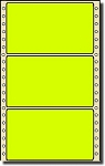 Compulabel® 162156 Fluorescent Yellow Continuous Pinfeed Labels, 5 x 2-15/16 (5 x 3), 2,500 per Box