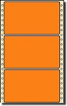 Compulabel® 162202 One Across Fluorescent Orange Continuous Pinfeed Labels, 5 x 2-15/16 (5 x 3) 2,500 per Box
