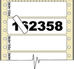 Compulabel® 162358 Duo-Image Piggyback Pin Feed Label 3-1/2 x 15/16 with 3,000 Labels per Case