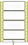 Compulabel® 170201 Dot Matrix, Continuous, Latex Impregnated 3-1/2 x 1-7/16 Tape Reel Labels, Perforated Between Labels