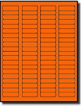 1,600 Fluorescent Neon Orange Laser Only Labels,1.75 x 0.5, 20 Sheets with 80 labels per sheet,  use Avery® 5267 Template