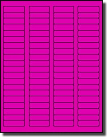 100 Sheets 8,000 Label Outfitters Fluorescent Red Laser ONLY Labels,1.75 x 0.5
