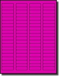 8,000 Fluorescent Neon Pink Labels, 1.75 x 0.5, 100 Sheets with 80 Labels per Sheet, use Avery® 5267 Template Laser Printers Only