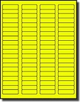 1,600 Fluorescent Neon Yellow Labels, 1.75 x 0.5, 20 Sheets with 80 Labels per Sheet, use Avery® 5267 Template Laser Printers Only
