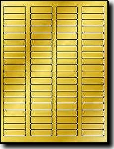 8 000 gold metallic foil glossy laser only labels 1 3 4 x 1 2 inch