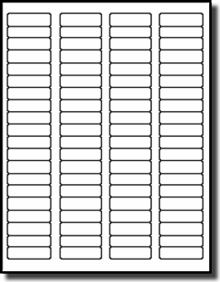 picture about Removable Printable Labels identify 1,600 Laser and Inkjet White Matte Labels, Detachable Adhesive 1.75 x 0.5 with 80 Labels for every Sheet, 20 Sheets, Avery® 5267 Template