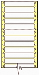 Compulabel® 180055 White Continuous File Folder Label, 3-1/2 x 2/3 inches