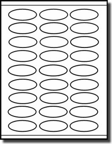 graphic about Printable Stickers Labels identified as 2,700 Oval Laser and Inkjet Printable Stickers, 2-1/4 x 1 with 27 Labels for each sheet, 100 Sheets