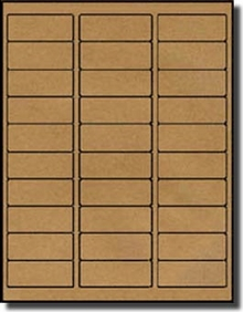 Avery® 5160 30 Labels per Sheet, Brown Kraft Standard Address Size Labels
