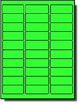 600 Fluorescent Neon Green Laser Only Labels, 2-5/8 x 1, 20 Sheets with 30 Labels per Sheet, use Avery® 5160 Template
