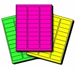 High Visibility Neon Labels, Rectangular 2 5/8