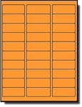 3,000 Neon Orange Address Labels, 2-5/8 x 1, 100 Sheets with 30 Labels per Sheet, use Avery® 5160, Compulabel® 311207 Template Laser Printers Only