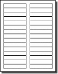 600 Compulabel® White Blank Printable File Folder Labels - 3 7/16 x 2/3 use Avery® 5066, Compulabel® 313650 Template, 20 Sheets