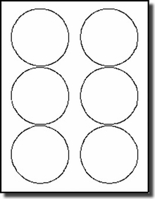 image regarding Round Printable Labels named 3-1/3 inch Diameter Spherical Labels Stickers, Avery® 5195, 5295