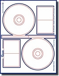 40 Compulabel® 375063 Stomper® Pro Format Inkjet Glossy Clear CD - DVD Labels 20 Sheets