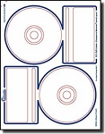 40 Compulabel® 375085 Crystal Clear Glossy Memorex Format CD, DVD Labels--20 Sheets
