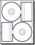 CLOSEOUT SALE - 40 Compulabel® 378044 Memorex® Compatible Photo Glossy Inkjet CD, DVD Labels