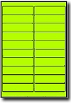 2,000 Fluorescent Yellow Laser ONLY Labels, 4 x 1 inches, 100 Sheets use Avery® 5261 Template