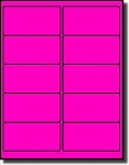 200 Neon Fluorescent Magenta or Pink Labels, 4 x 2, 20 Sheets use Avery® 5163 Template Laser Printers Only