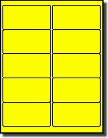 1 000 Label Outfitters Fluorescent Neon Yellow Laser Only 4 X 2 Labels Use Avery 5163 Compulabel 312186 Template 100 Sheets