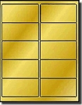 1,000 Label Outfitters® Glossy 4 x 2 inch Gold Metallic Foil Laser Only Labels