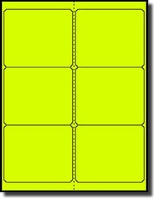 600 Label Outfitters Fluorescent Neon Yellow Laser Only Labels 4 X