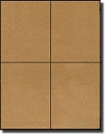 80 Quarter Sheet Brown Kraft Labels 4-1/4 x 5-1/2, 20 Sheets for Laser or Inkjet Printers