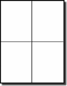 400 quarter page blank square corner printable large labels 100
